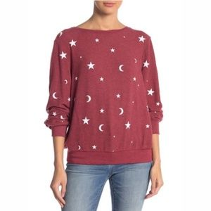 Wildfox Moon Stars Sweatshirt Pullover